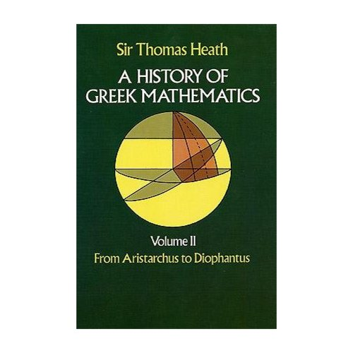 History of Greek Mathematics: From Aristarchus to Diophantus