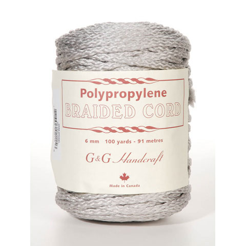 Macrame Cord Silvergray 6Mm 100Yd