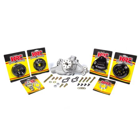 KRC POWER STEERING KIT 16312615 Pulley Kits Basic Crate Engine Kit Block Mount w/o (Basic Engine Kit)