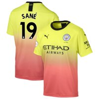 Leroy San- Manchester City Puma 2019/20 Third Replica Player Jersey - Yellow