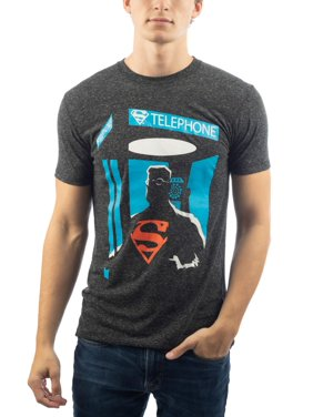Men's Dc Comics Superman Superhero Phone Booth Graphic T-shirt