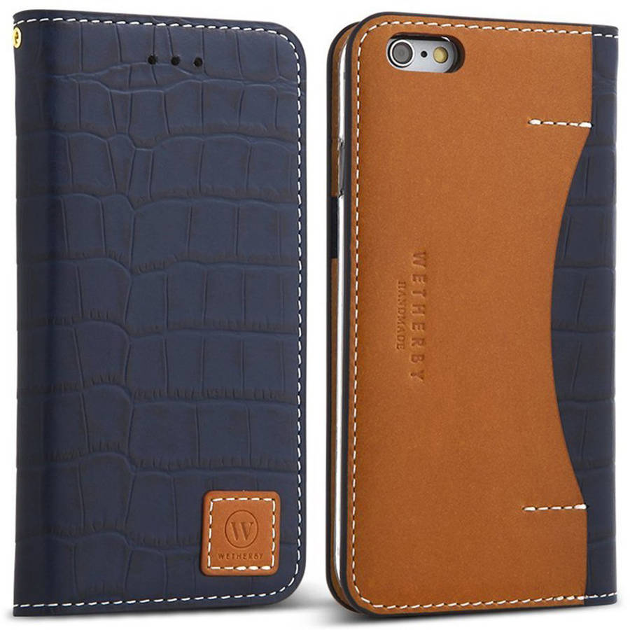 Wetherby DesignSkin Genuine Leather Wallet Case for Apple iPhone 6/6S