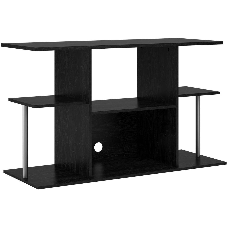 mainstays black tv stand for tvs up to 42 walmart com rh walmart com