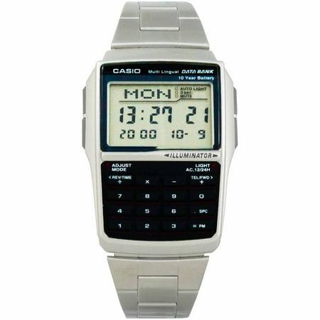 Casio Silver Digital Watch w/ Databank, Calculator, Alarm & Light - DBC-32D-1A