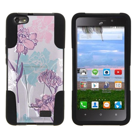 Huawei Raven LTE H892L STRIKE IMPACT Dual Layer Shock Absorbing Case with Built-In Kickstand - Serene Pastel