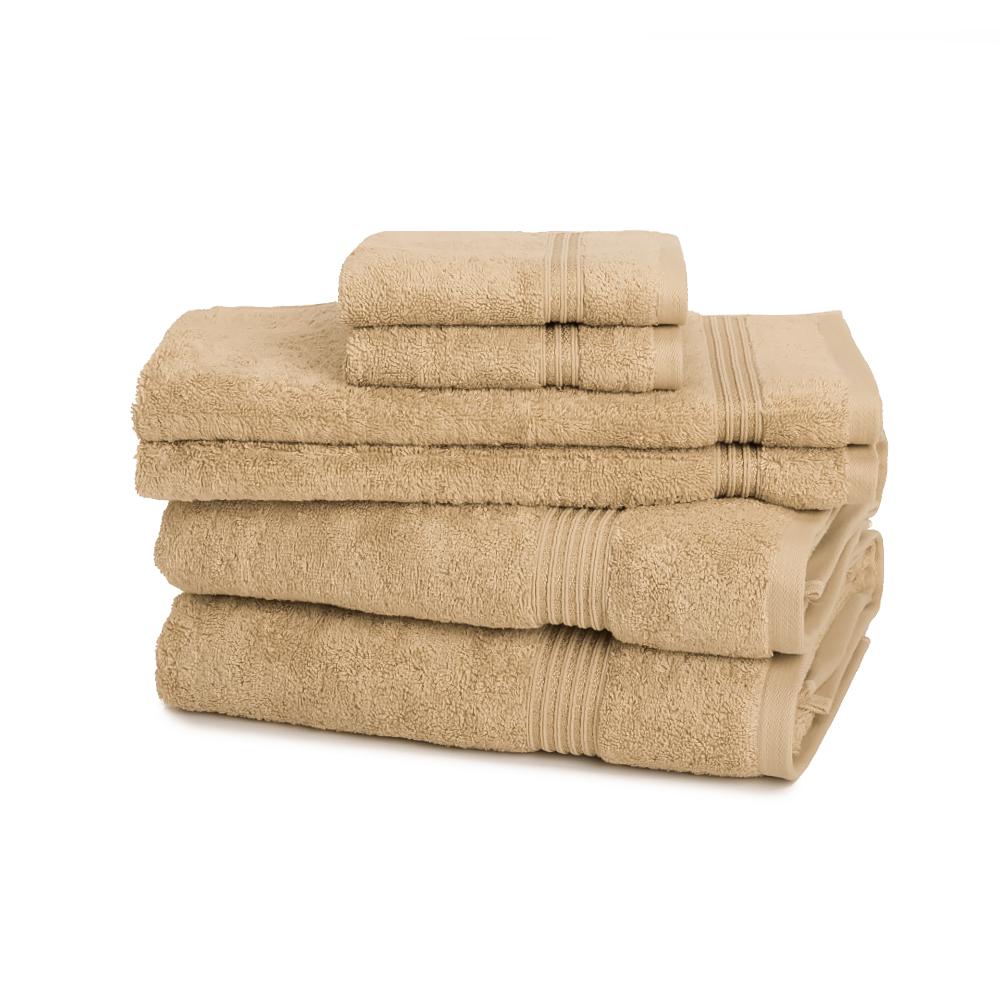 Regency 600 GSM 6-Piece Towel Set - Medium Weight & Absorbent