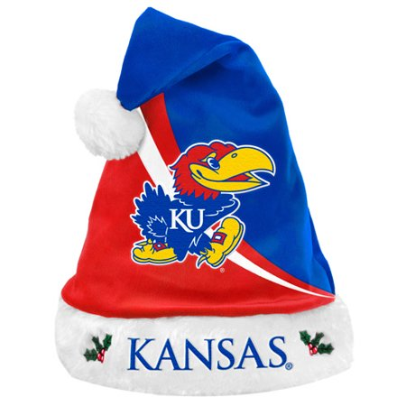 Forever Collectibles NCAA Swoop Logo Santa Hat, University of Kansas Jayhawks