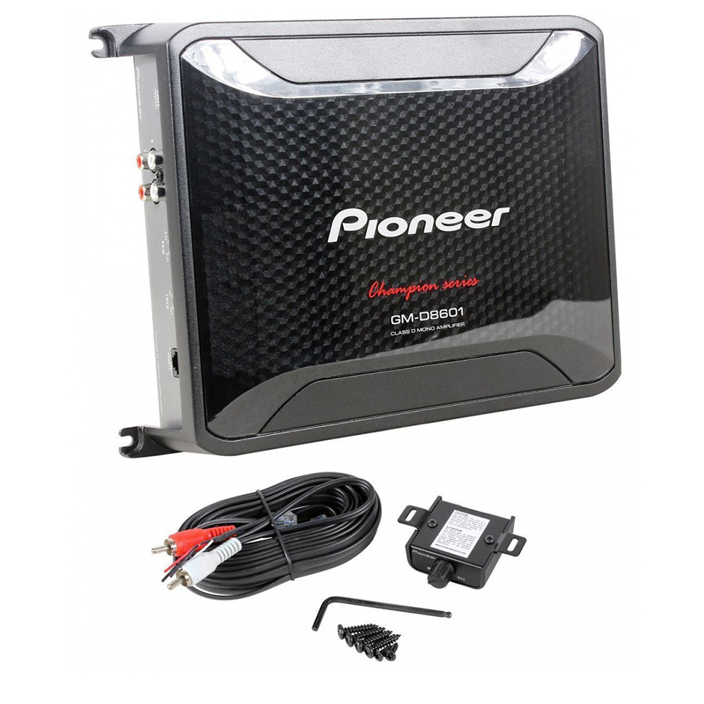 Pioneer GM-D8601 Class D Mono Amplifier with Wired Bass Boost Remote