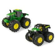John Deere Toy Tractors Monster Treads Lights & Sounds Tractors 2 Pk
