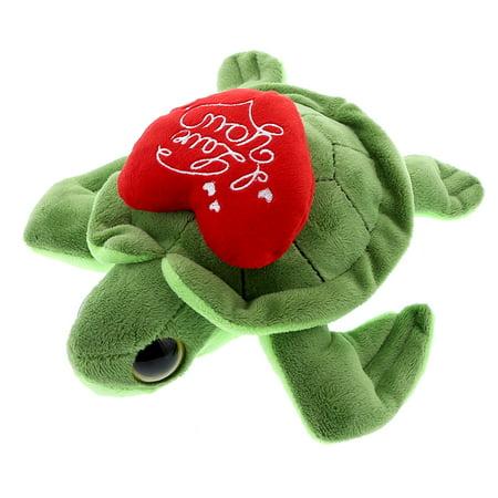 Super Soft Plush Dollibu Green Turtle Big Eye I Love You Valentines (Eye Turtle)