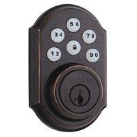 Kwikset 909 11P SMT CP Bronze Electronic Keyless Deadbolt, 6 Button