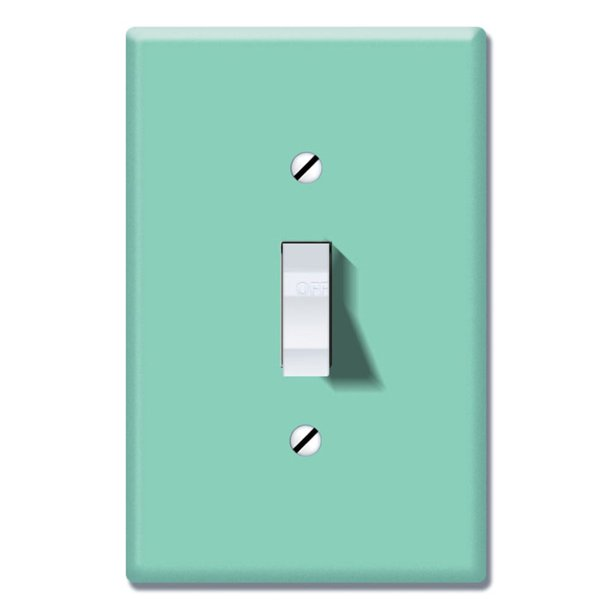 Wirester 1 Gang Toggle Light Switch Wall Plate Switch Plate Cover Solid Mint Green Walmart Com Walmart Com