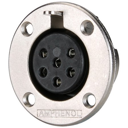 Amphenol Ep 6 13P 6 Pole Ep Female Round Flange Chassis Connector