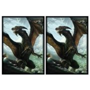 100 Another Rough Day Dragon Deck Protectors Max Protection Shuffle Tech Art Sleeves 2-Packs