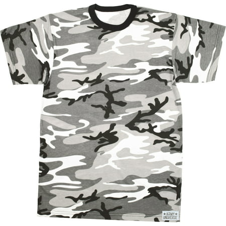 City Camouflage Short Sleeve T-Shirt with ARMY UNIVERSE Pin - Size X-Small  (33