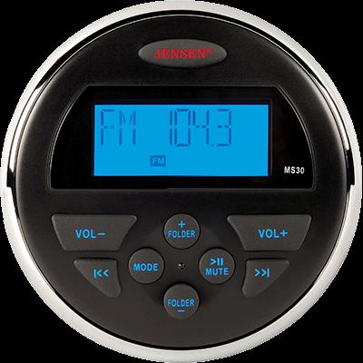 Jensen MS30RTL AM/FM/USB Waterproof Compact Stereo