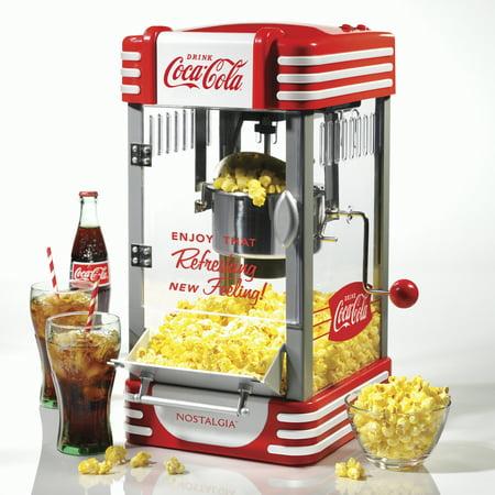 Nostalgia RKP630COKE Coca-Cola 2.5 oz Kettle Popcorn Popper
