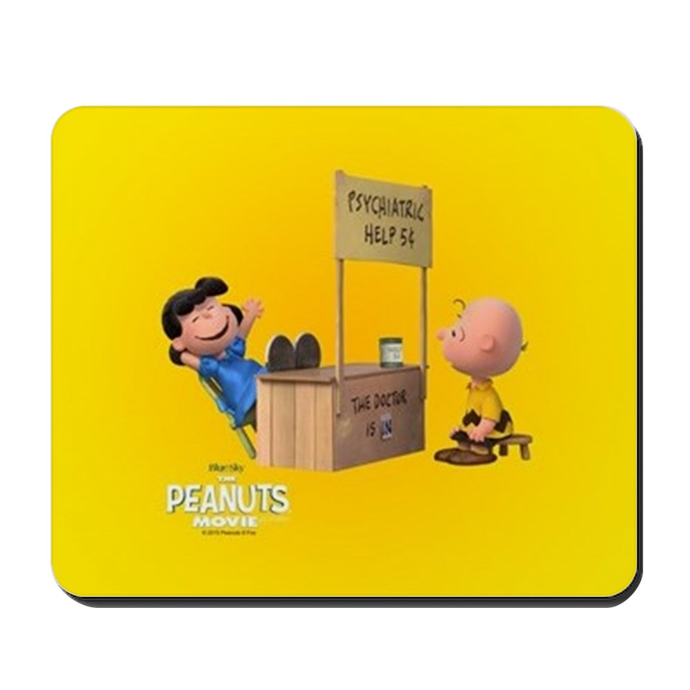 CafePress - Lucy And Charlie Brown Full Bleed - Non-slip Rubber Mousepad, Gaming Mouse Pad