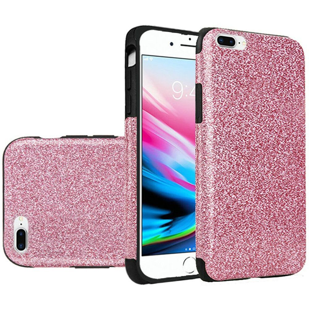 Apple iPhone 7 Plus/8 Plus Case, by Insten Glittering TPU Rubber Candy Skin Case Cover For Apple iPhone 7 Plus/8 Plus, Black - image 4 of 4