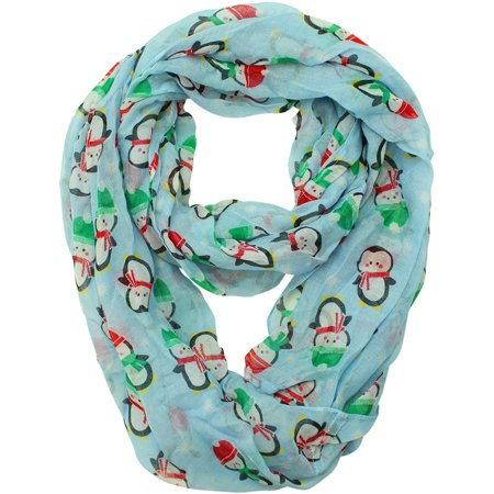 Christmas Holiday Penguin Print Circle Infinity Scarf](Holiday Scarf)