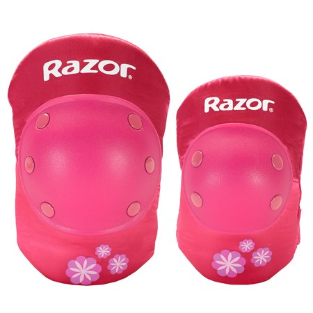 Kit Protective Gear - Razor Youth, Sweet Pea Protective Pad Set, Pink, For Ages 8-14
