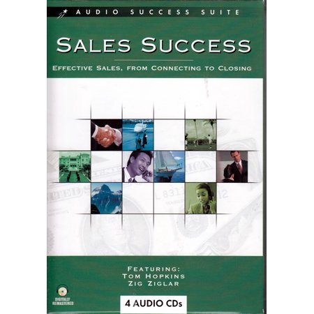 Sales Success Motivational Training 4 AUDIO CD Set - From Connecting to Closing - Tom Hopkins + Zig Ziglar + Ron (Best Motivational Videos For Sales Meetings)