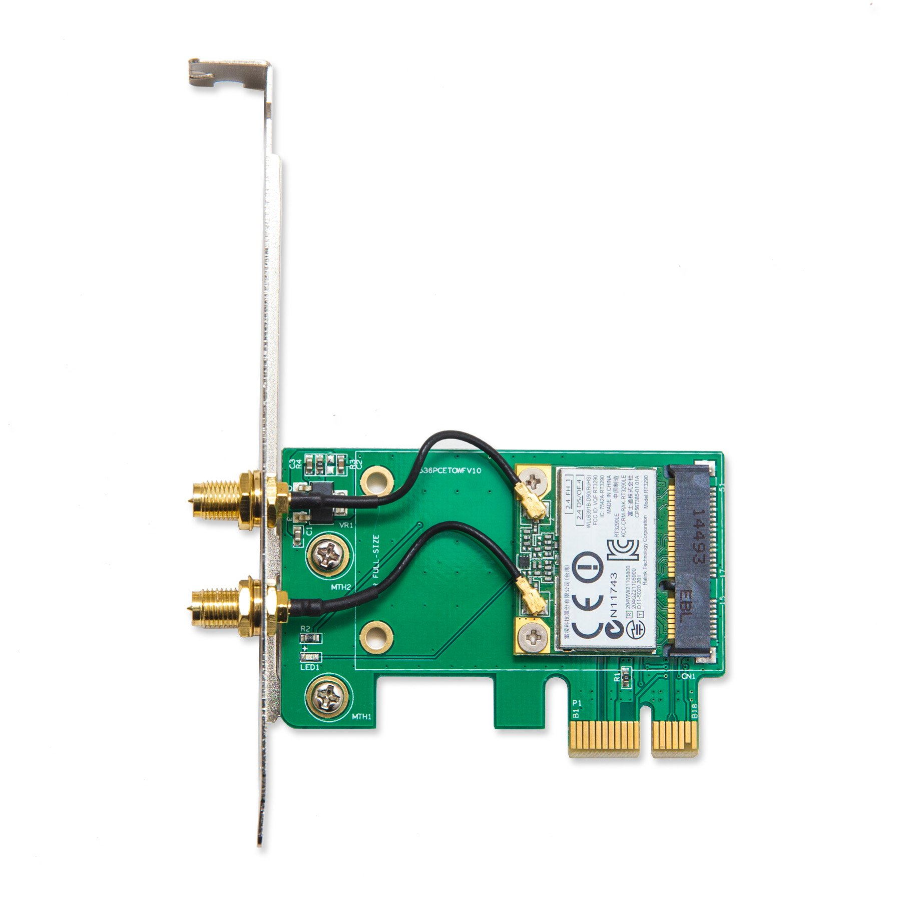Io Crest Sy-pex23063 Ieee 802.11n Bluetooth 3.0 - Wi-fi/bluetooth Combo Adapter - Pci Express X1 - 150 Mbit/s - 2.40 Ghz Ism - 5 Ghz Unii - Internal (169210)