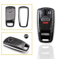 Xotic Tech Carbon Fiber Pattern Key FOB Cover Shell Case for 2017+ Audi Keyless Remote