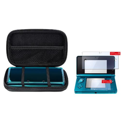 Insten For Nintendo 3DS BLACK EVA CASE WITH SCREEN PROTECTOR BY CELLAPOD CASES
