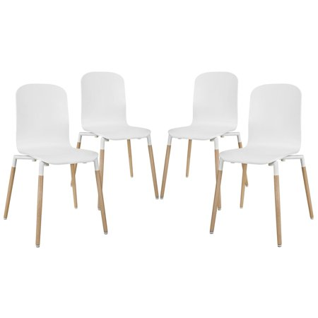 Wondrous Modern Contemporary Kitchen Wood Dining Chairs Set Of Four White Unemploymentrelief Wooden Chair Designs For Living Room Unemploymentrelieforg