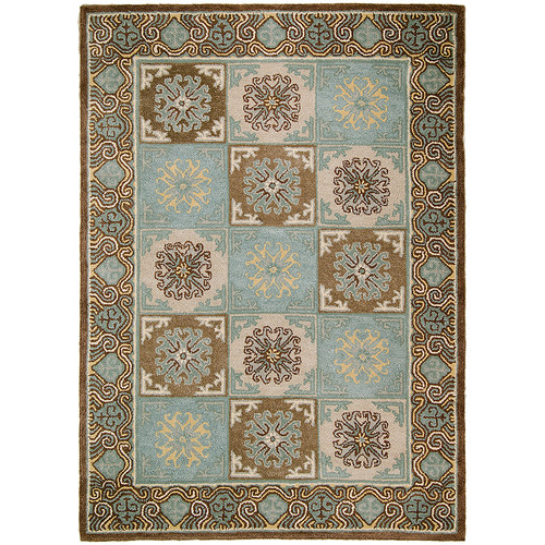 AllStar Rugs Handmade Blue/Brown Area Rugs