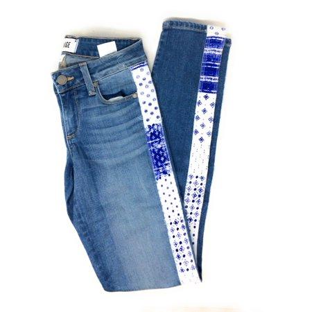 Paige Womens Verdugo Jeans Mid Rise Ultra Skinny Moroccan Indigo Size 23 X