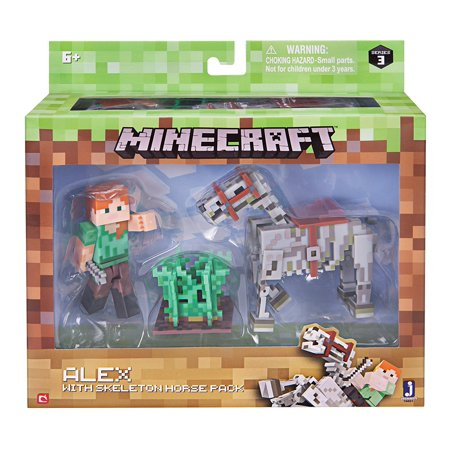 Alex With Skeleton Horse Pack  From The Hit Video Game  Minecraft  Take Home The Alex With Skeleton Horse Pack