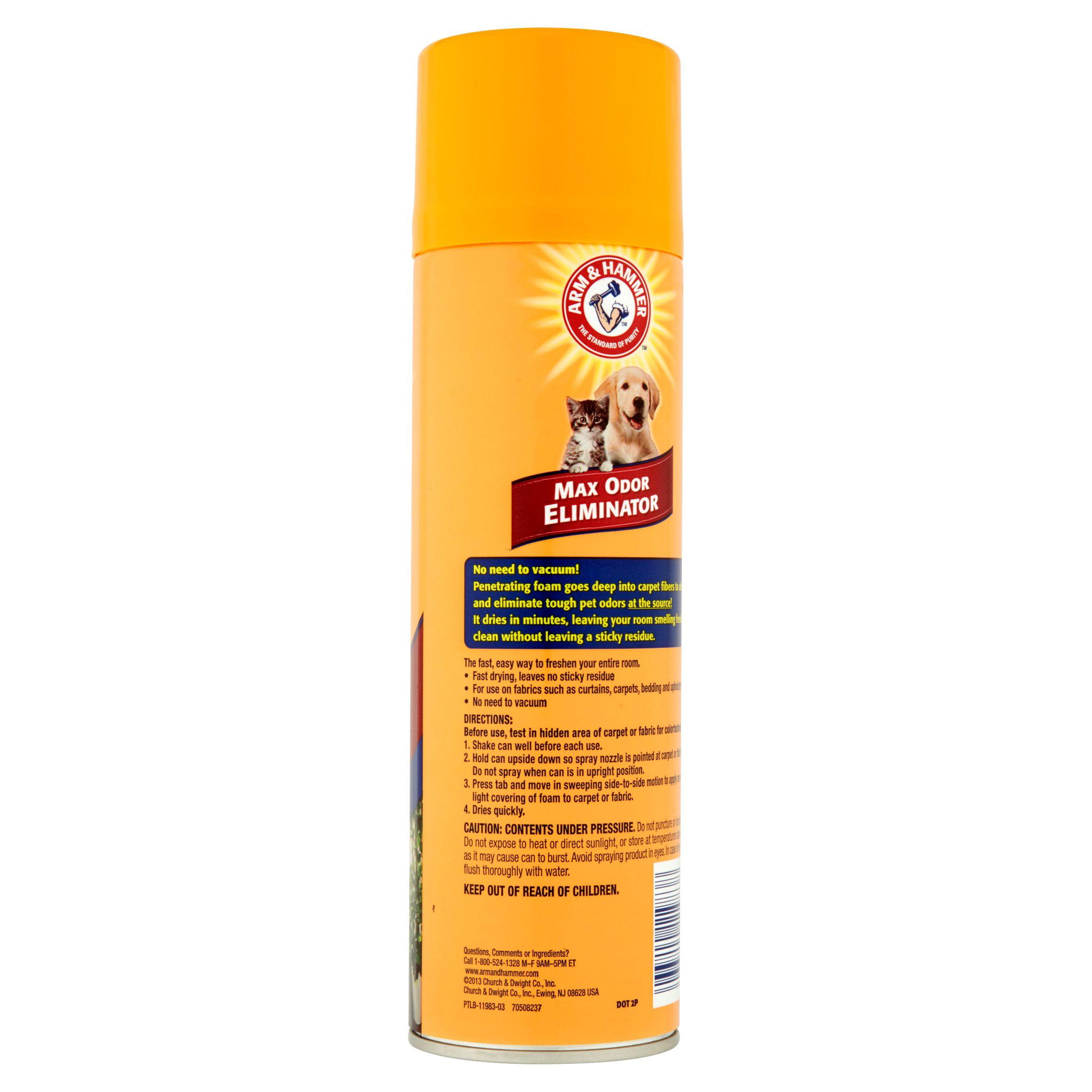 Arm & Hammer Max Odor Eliminator, Vacuum Free Foam for Carpet & Upholstery, 15 Oz. - Walmart.com