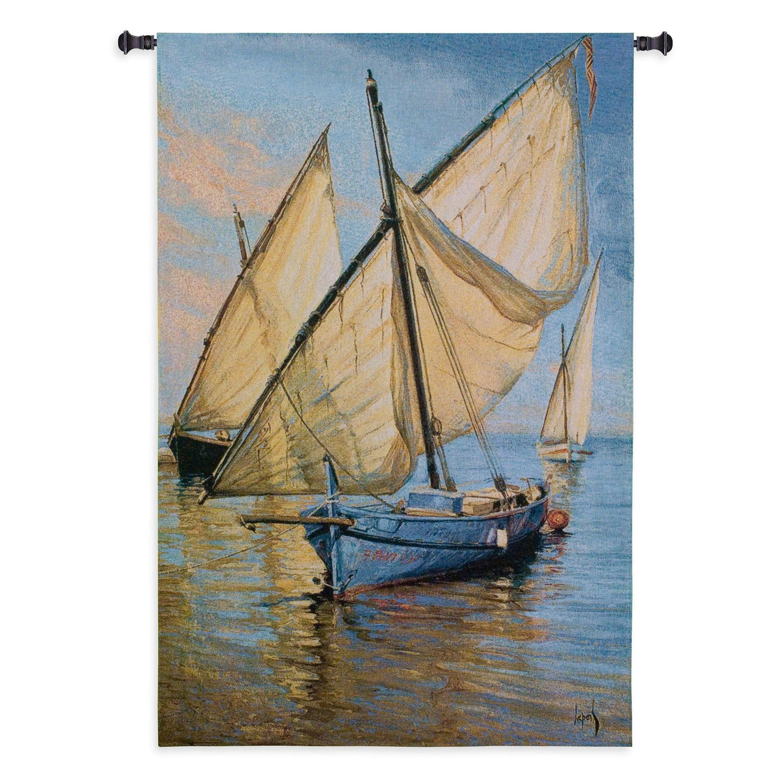 Fine Art Tapestries Violet Boat Wall Tapestry by Supplier Generic