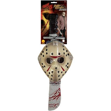 Jason Mask Machete Adult Halloween - Jason Halloween Costume Women