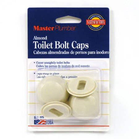 Almond Memoirs Toilet (Master Plumber Round Toilet Bolt Caps, Almond,)