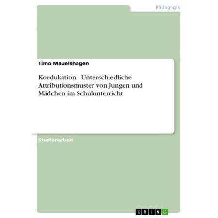 Koedukation - Unterschiedliche Attributionsmuster von Jungen und Mädchen im Schulunterricht - eBook (Sonnenbrille, Jungen)