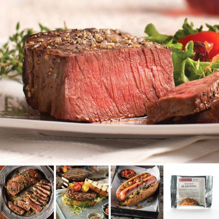 Omaha Steaks Super Sirloin Holiday Gift Father's Day Food Christmas Gift Package Gourmet Deluxe Steak Gift