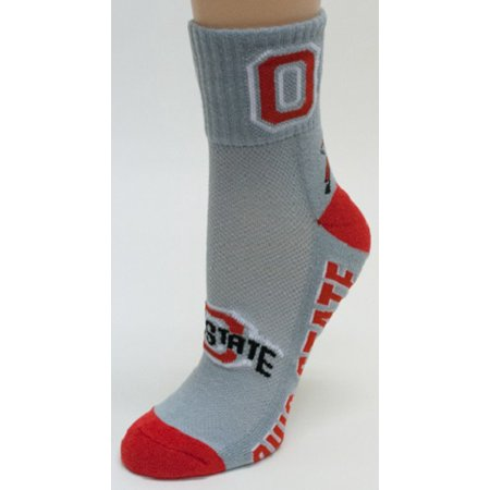 (Ohio State Buckeyes Gray Quarter Socks)