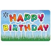 Birthday Yard Sign Walmart eGift Card