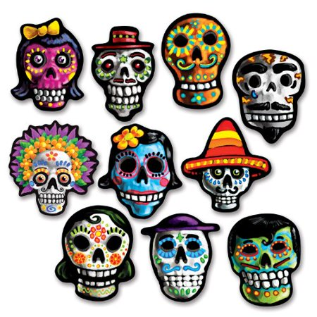 Beistle Day of The Dead Cutouts - Beistle Die Cut Halloween