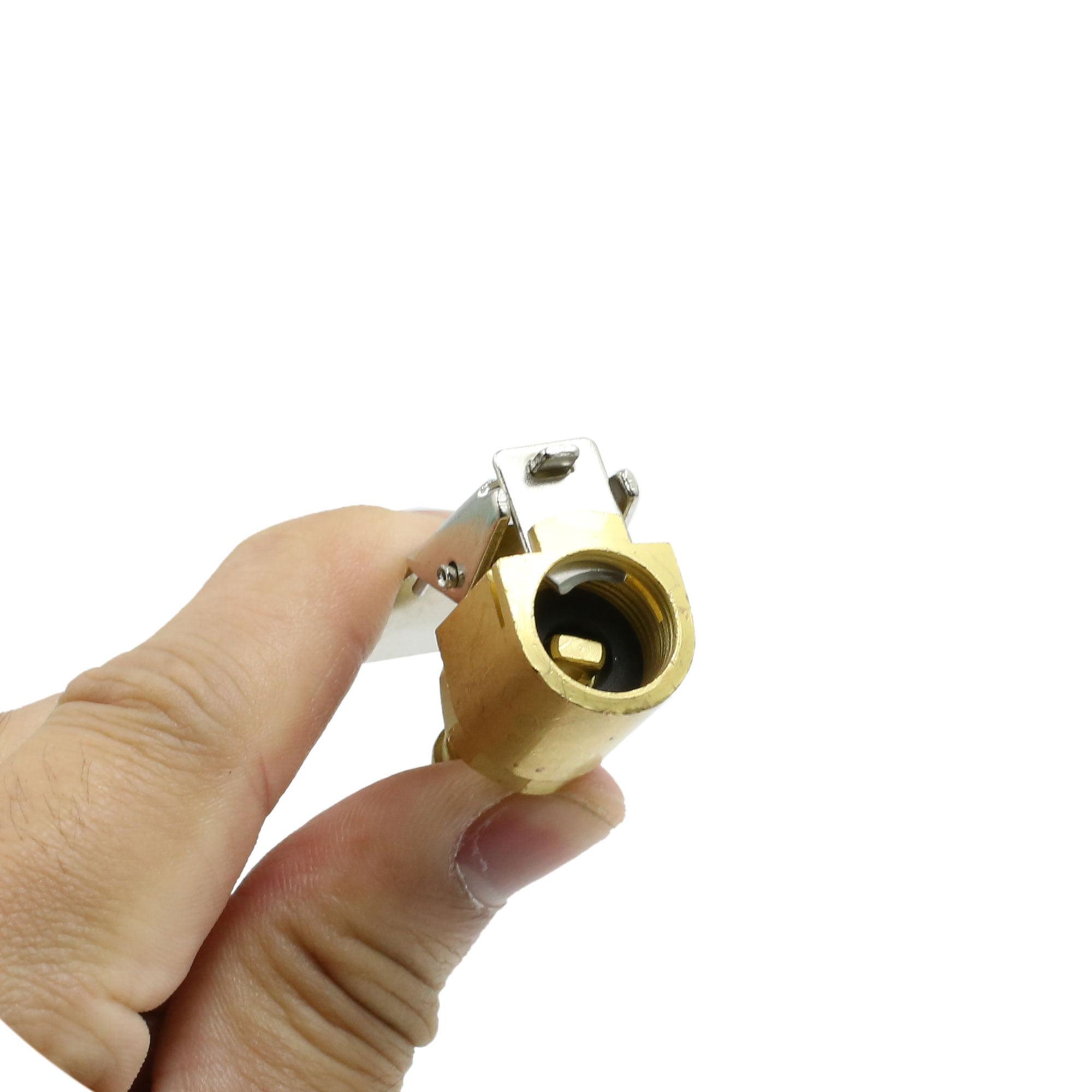 6 Piece Copper Alloy Tire Tyre Valve Air Pump Nozzle Hose Adapter Connecter