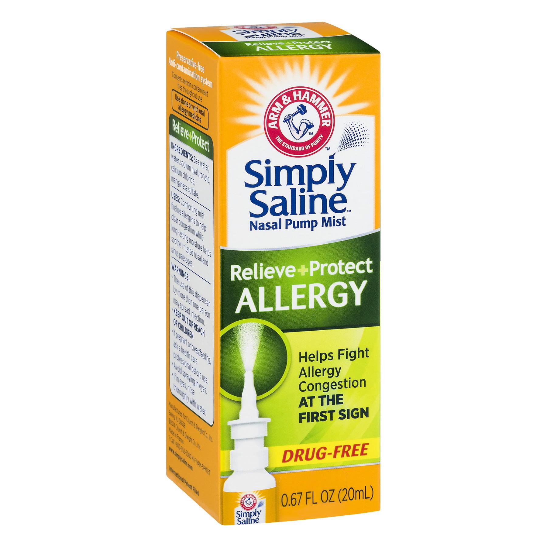Arm & Hammer™ Simply Saline™ Allergy Nasal Pump Mist 0 67 fl