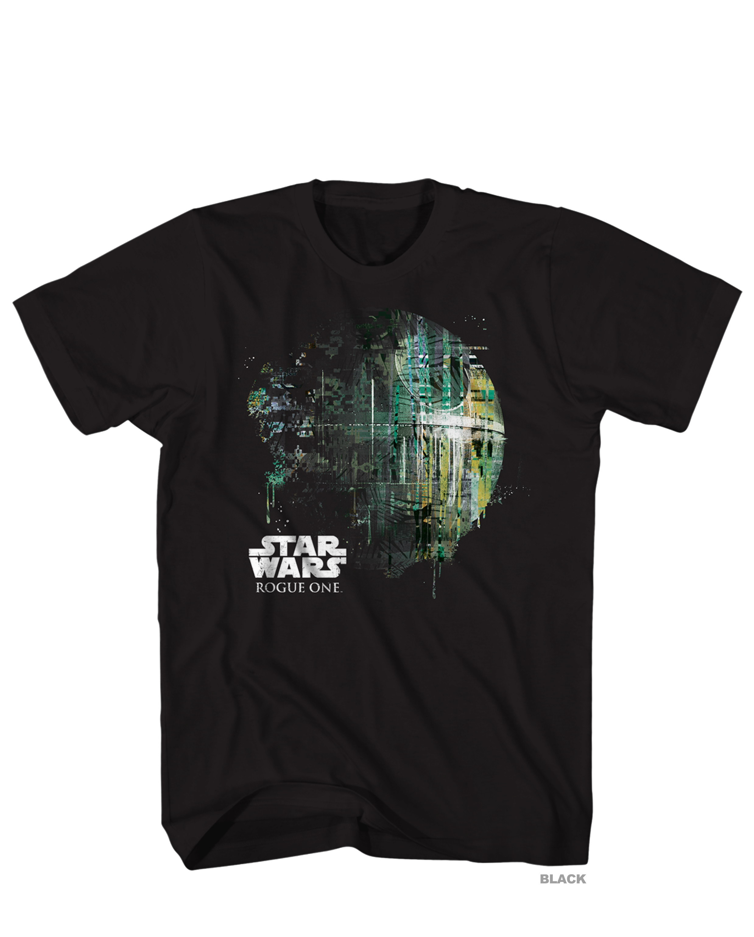 Star Wars Rogue One Dripping Death Star Mens Heathered Black Shirt, X-Large