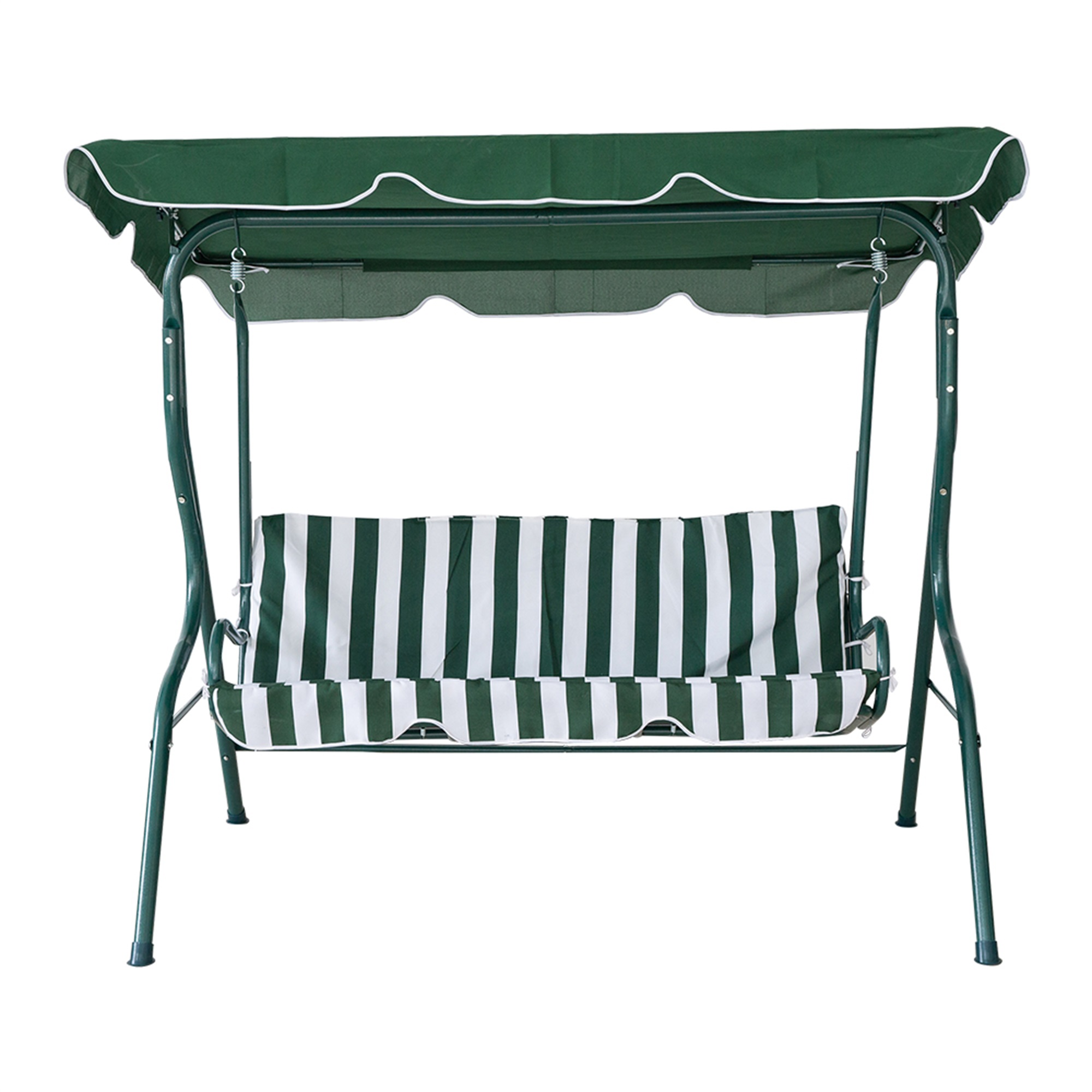 Lucky Tree Outside Rocking Chair Lounge Steel Chair Furniture with Cushion Patio Seating,Green