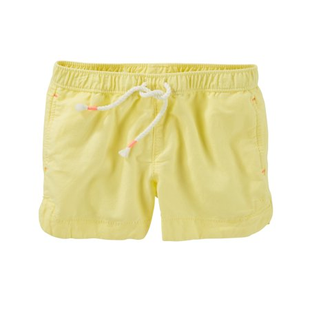 OshKosh B'gosh Big Girls' Neon Sun Shorts, 8 Kids