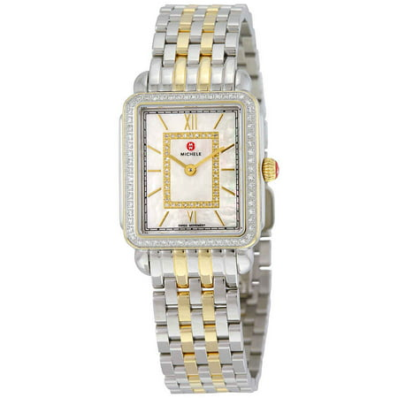 Michele Deco II Mother of Pearl Diamond Dial Ladies Watch MWW06I000004