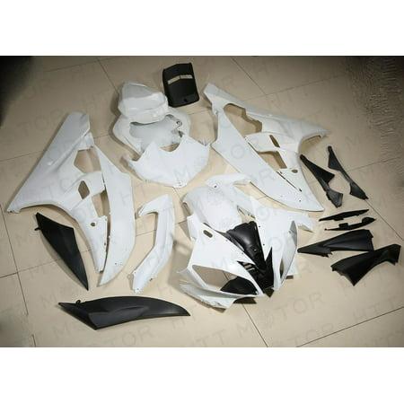 UNPAINTED ABS Plastic Fairing Body work Set For YAMAHA YZF R6 YZF-R6 2006