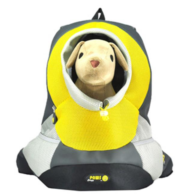 Wacky Paws WPC022-YW Sporty Backbag Pet Carrier, Yellow, Large